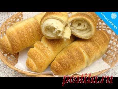 Хлебные рогалики из теста на закваске