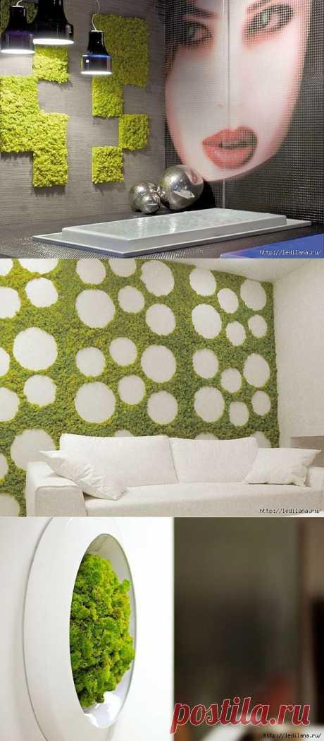 Интерьер. Зеленая идея для дома. Не правда ли, такие декоративные элементы создают великолепную атмосферу дома?