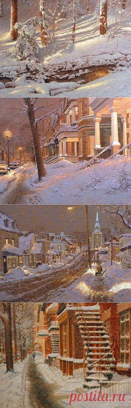 Зимние пейзажи Ричарда Савойя (Richard Savoie). , часть 2