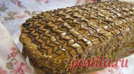 """La torta De \""""Semistakannik\"""". Este tierno, aéreo y muy sabroso tortik tiene el gusto admirable. Él muy tierno y simple en la preparación...."""