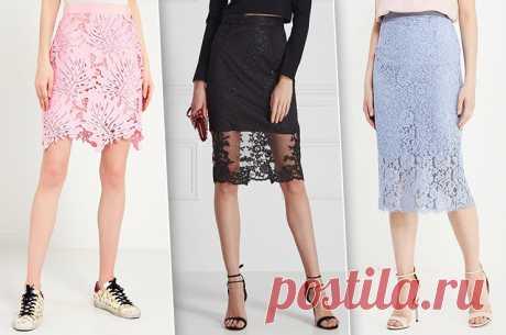 7 эффектных вариантов кружевных юбок — Модный приговор