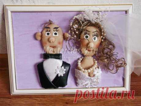 Поделки из колготок. Свадебное панно «Жених и невеста». Мастер-класс с пошаговыми фото