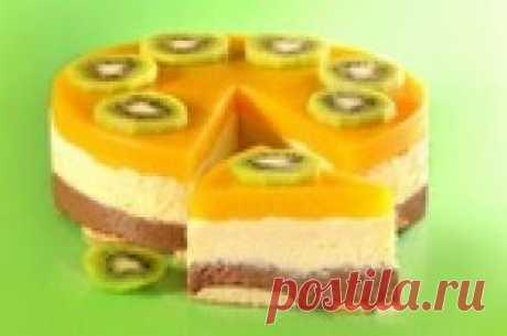 Манный торт-десерт без выпечки