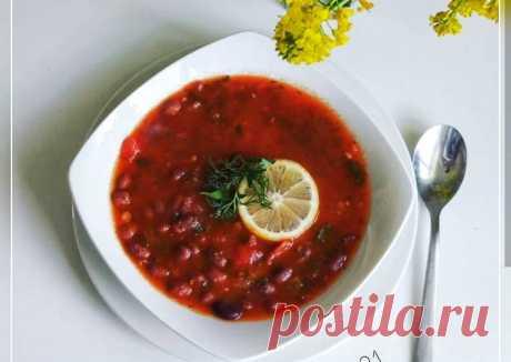 (3) Густой томатный суп 🥘с фасолью - пошаговый рецепт с фото. Автор рецепта Наташа . - Cookpad