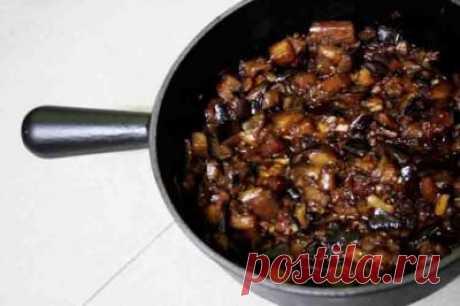 Низкокалорийное блюдо с баклажанами
