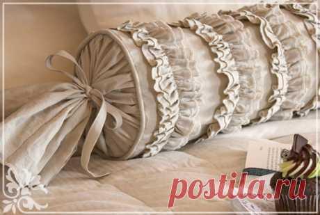 Декоративные подушки-валики своими руками - XiTech.ru Декоративные подушки-валики своими руками