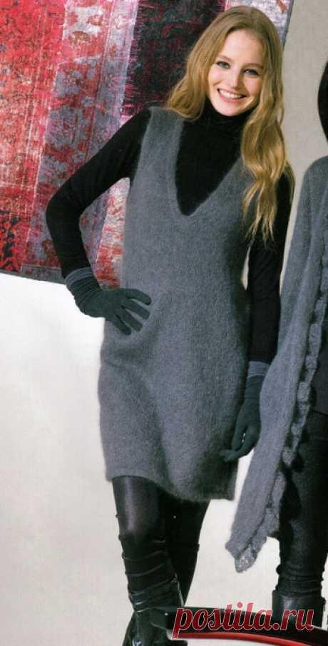 El vestido Linht Dress gris de moherovoy los hilados (rayo). Con extravagancia.