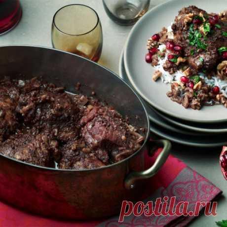 Баранина тушеная в гранатовом соке - Мясные блюда