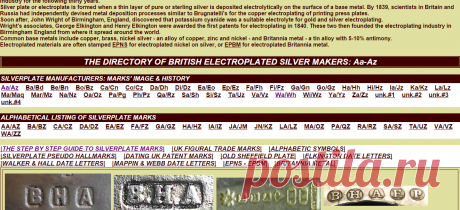 english silver makers marks
