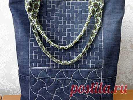 Шьем джинсовую сумочку | Журнал Ярмарки Мастеров Шьем джинсовую сумочку – бесплатный мастер-класс по теме: Лоскутное шитье: пэчворк ✓Своими руками ✓Пошагово ✓С фото