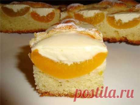 Персиковый пирог под сливочным кремом. тесто.