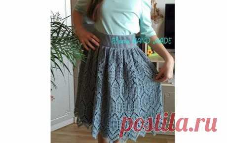 Летняя юбка Летняя ажурная юбка в филейной технике. Схема