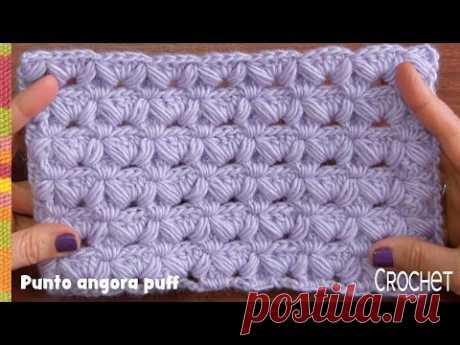 Punto angora puff reversible tejido a crochet / Tejiendo Perú