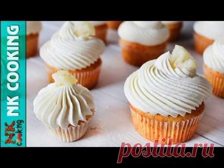 АНАНАСОВЫЕ КАПКЕЙКИ с Ананасовым Курдом и Сливочно - Шоколадным Кремом ♥ Рецепты NK cooking