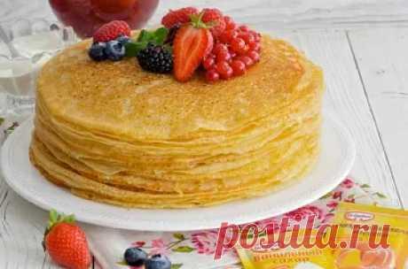Рецепты блинов на молоке и кефире с фото пошаговой инструкцией