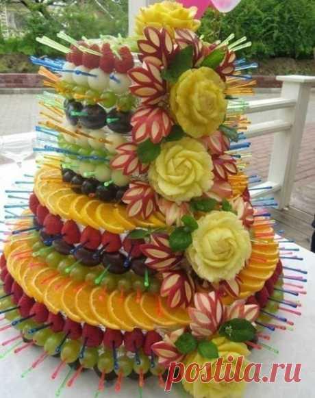 Очень красивая подача фруктов!