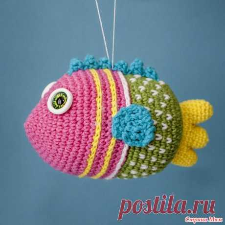 Рыбка крючком - игрушка на елку - Вязание - Страна Мам
