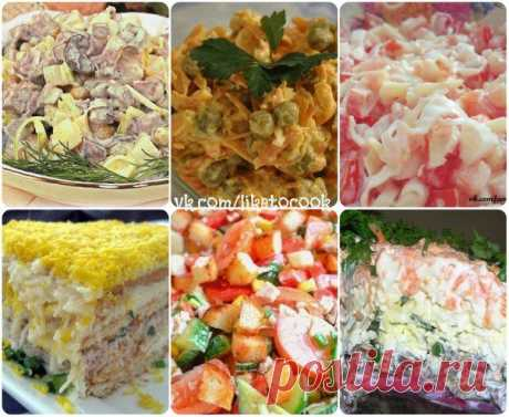6 TASTY and POPULAR SALADS - Simple recipes of Овкусе.ру