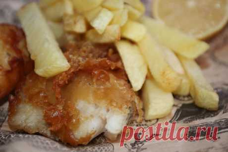 Рецепт Фиш энд чипс - Английская кухня   Kitchen727