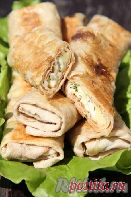 Рулет из лаваша с сыром и зеленью - 14 пошаговых фото в рецепте