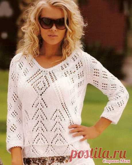 Пуловер с узором ромбы - Вязание - Страна Мам