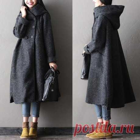Женщин зимние длинные шерстяные пальто – Buykud