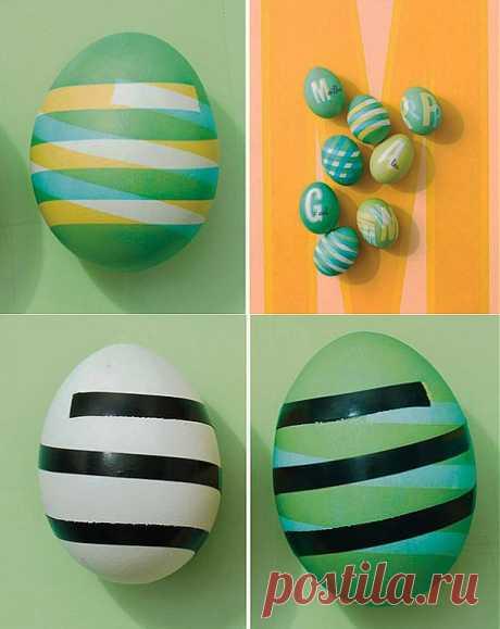 Простой способ окраски яиц к Пасхе | Умелые ручки