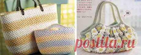 Вязаные сумки крючком из японских журналов – схемы и модели (бесплатно)