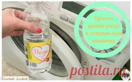 Просто долей уксус в стиральную машинку — Ты. Интернет. Заработок.