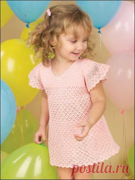 Очаровательное платье для девочки крючком - Подружки - медиаплатформа МирТесен