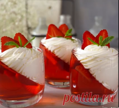 Strawberry jelly with magnificent cream This it is indecent... - Bon Appétit | the Best recipes