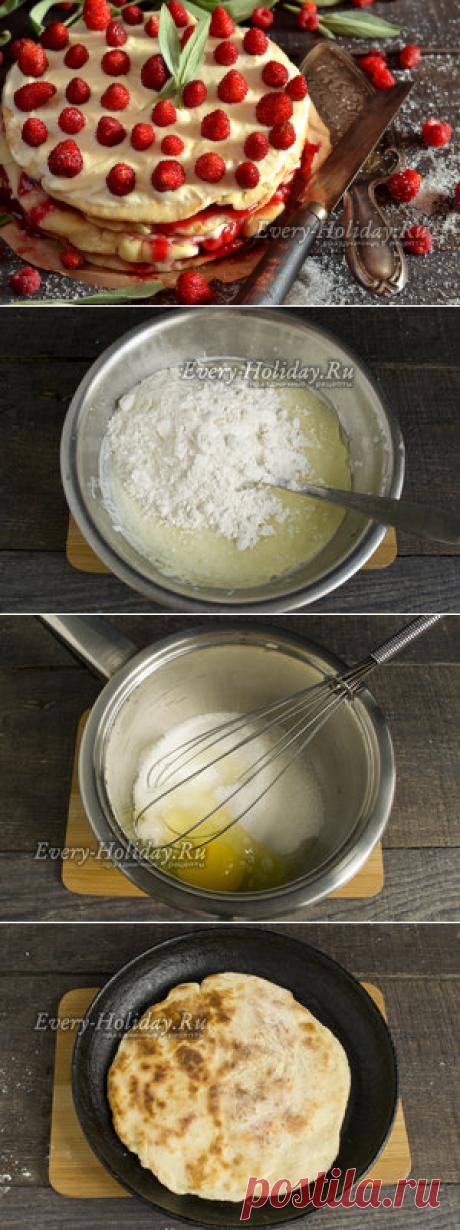 La torta en la sartén, la receta de la foto poshagovo en las condiciones de casa