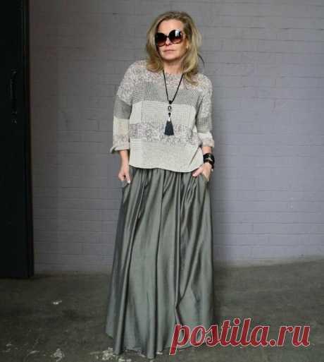 12 образов для женщин 50+, после которых вы полюбите длинные юбки   Glamiss   Яндекс Дзен