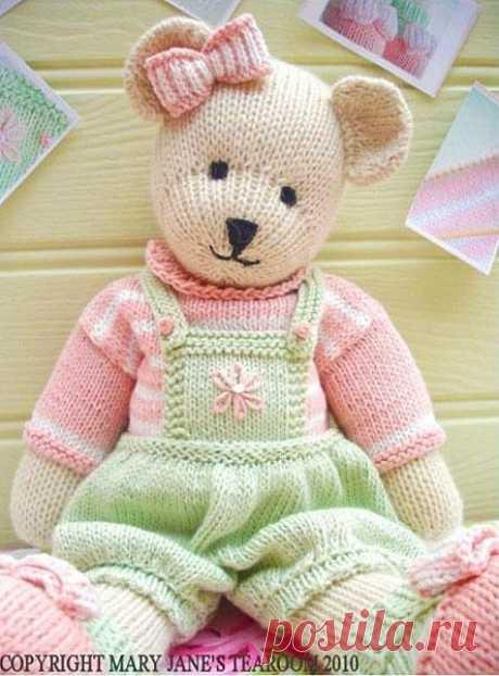 медвежонок спицами от Мэри Джейн