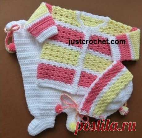 0-3 Month Baby crochet pattern JC165A