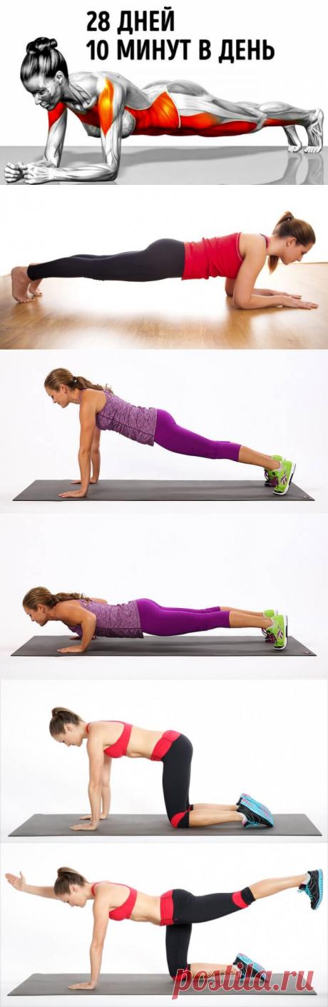 7 упражнений, способные преобразить ваше тело всего за 28 дней | В темпі життя