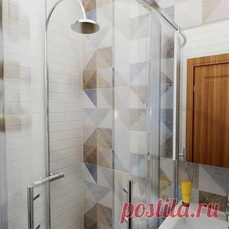 Дизайн маленькой ванной с душевой: 57 идей с фото