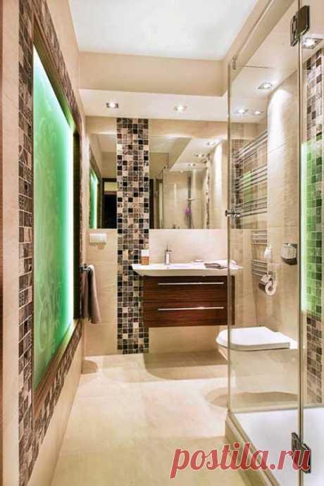 Дизайн маленькой узкой ванной комнаты: добавьте больше света - Самое важное в дизайне маленькой ванной комнаты — это идея. Немного фантазии, и в маленькой узкой ванной комнате сможет красиво разместиться все необходимое. Ванная комната в этом доме, да и... Read more »