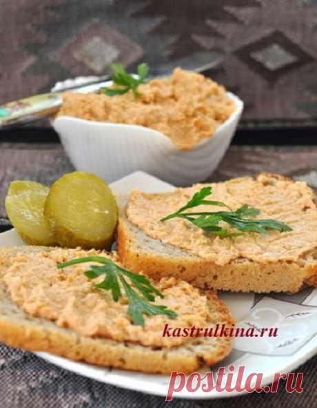 Очень вкусная и быстрая сырно-рыбная паста на бутерброды