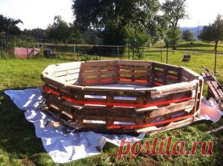 Бассейн на даче за копейки