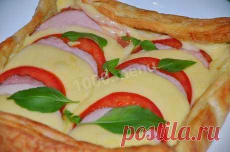 Быстрая и простая слоеная пицца в духовке
