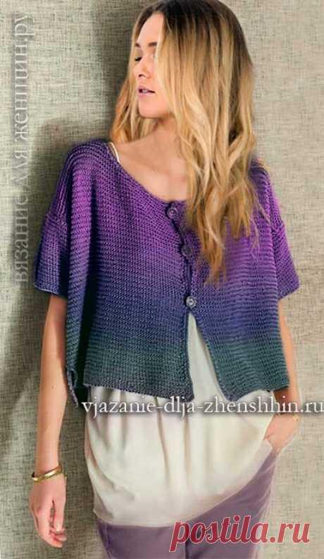Вязание для начинающих модный вязаный жакет спицами