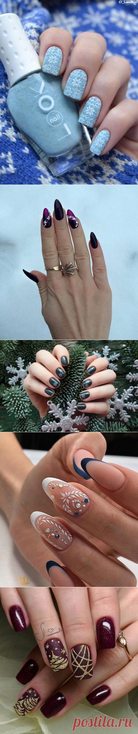 TOP of IDEAS: winter manicure 2019, fashionable manicure winter, winter design of nails - a photo | topidej.ru