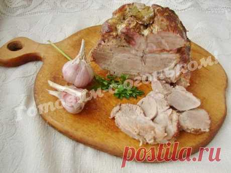 Рецепт свиной шеи, запечённой в духовке