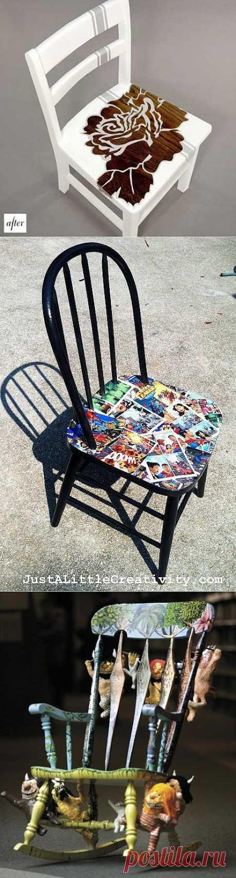 Переделка старых стульев (трафик) / Мебель / Модный сайт о стильной переделке одежды и интерьера