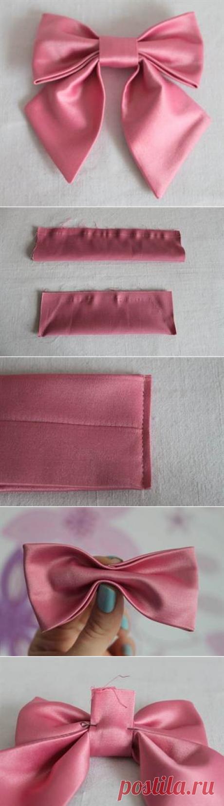 Как сделать бантик из ткани своими руками на платье и для волос с видео