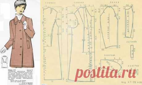 Выкройки женской зимней верхней одежды 50 размера