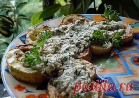 Рецепт: Жареные кабачки с чесноком