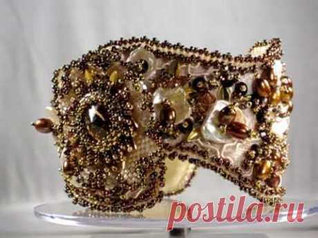 Bracelet Lace, Pearls & Swarovski