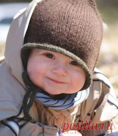 "Children's knitted hat of \""Bebeguin\""   Damskiye Palchiki. ru"